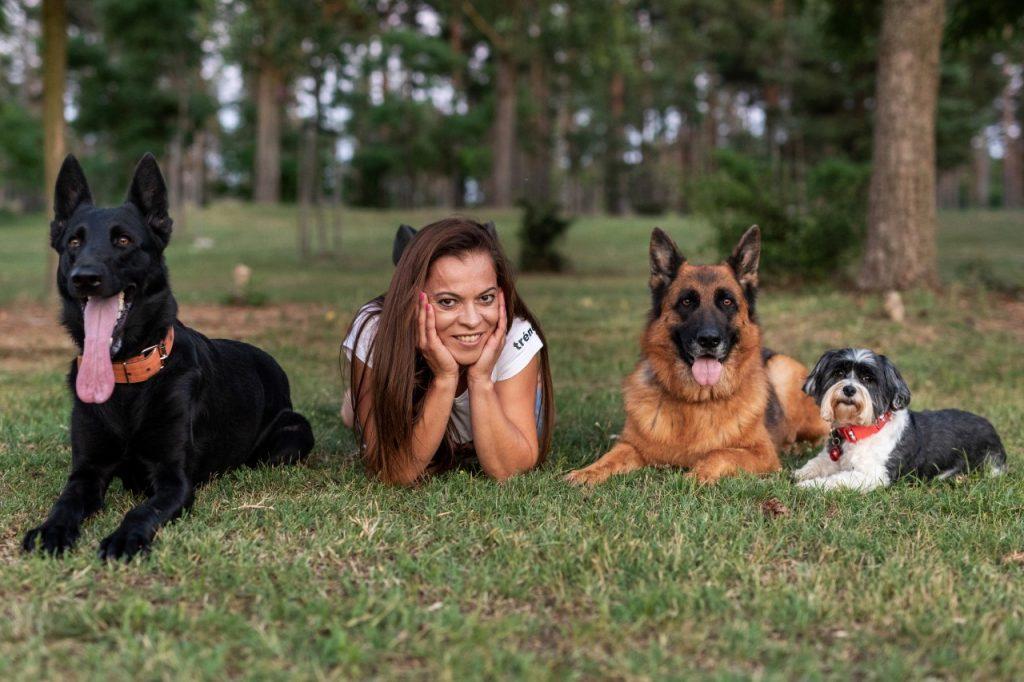 Feilné Jantner Erika kutyáival